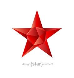 Polygonal ruby star modern futuristic vector