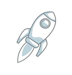 Rocket startup business creativity innovation vector