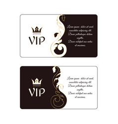 Set of two elegant horizontal discount cards in vector