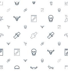 skeleton icons pattern seamless white background vector image