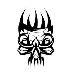 skull with crown on head tattoo vector image