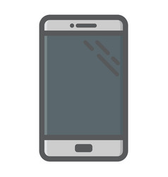 smartphone colorful line icon phone and touch vector image