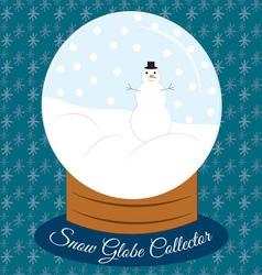 Snow Globe Collector vector