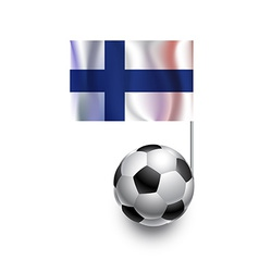 Soccer Balls or Footballs with flag of Finland vector