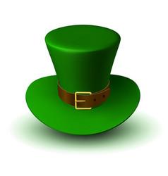 St patricks green hat with gold ribbon vector