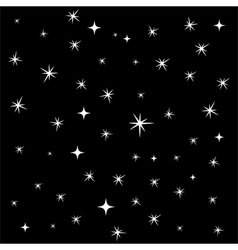 Star background seamless pattern vector