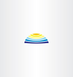 summer logo water sun icon vector image