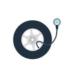 tire pressure gage icon vector image