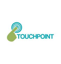 Touchpoint simple logo design vector