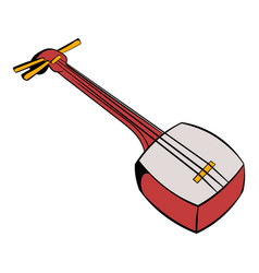 Traditional japanese shamisen icon cartoon vector