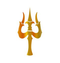 Trident of shiva- trishul sacred symbols of shiva vector