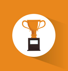 Trophy award marketing image vector
