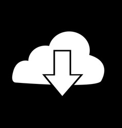 upload to cloud icon design vector image
