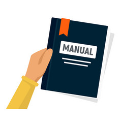 User manual icon flat style vector