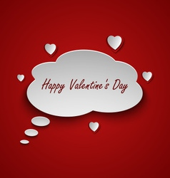 Valentines card with dialog bubble and hearts vector
