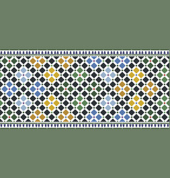 Wall tiles alhambra vector