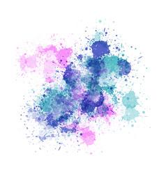 watercolour splatter background vector image