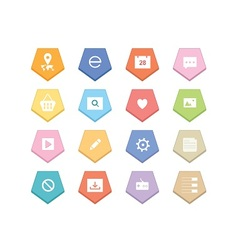 Web colorful icons vector