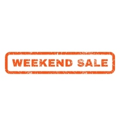 Weekend Sale Rubber Stamp vector
