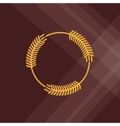 Wheat icon grain design Agriculture concept vector
