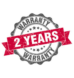 2 years warranty stamp sign seal vector image vector image