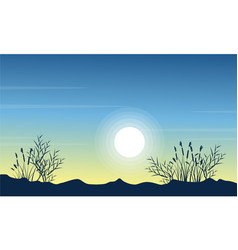 Beauty landscape hill at the morning vector