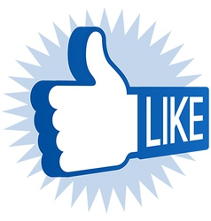 Like Thumbs Up vector image vector image