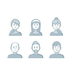 people cartoon avatars collection set creative vector image