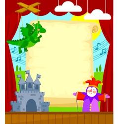 Puppet theater vector