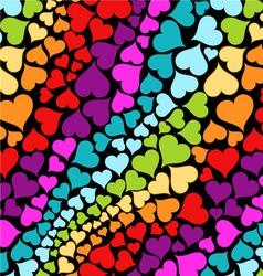 rainbow hearts vector image vector image