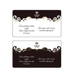 set of two elegant horizontal discount cards in vector image