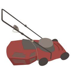 lawn mower icon grass gardening mowing garden vector image vector image