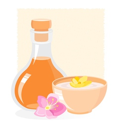 spa icon with oil vector image