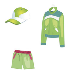 sportswear for summer sports and warm weather vector image vector image