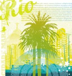 tropical urban landscape vector image vector image