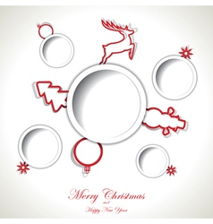 Christmas background with text place vector image vector image