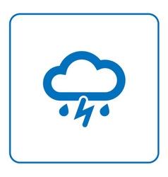 Cloud lightning rain icon vector image