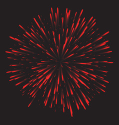 glowing collection firework light effects vector image vector image