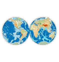 hemispheres of earth vector image vector image