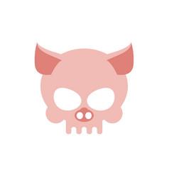 pig skull isolated pink swine skeleton head vector image vector image