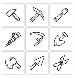 Set of Work Tools Icons Repair Mine vector image