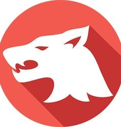 Wolf Head Icon vector image vector image