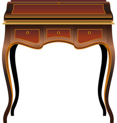 antique furniture secretaire vector image vector image