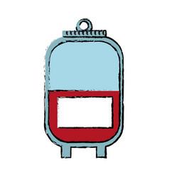 bag blood healthy care medicine image vector image