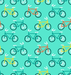 Bicycles pattern vector image vector image