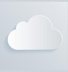 cloud white icon symbol vector image vector image