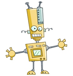 funny robot vector image vector image