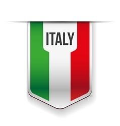 Italy flag ribbon vector image vector image