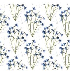 Romantic Wild Flowers Seamless Pattern vector image