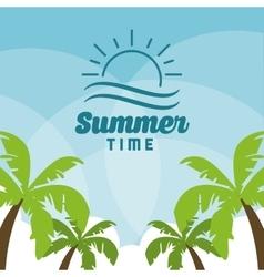 Summer design palm tree icon graphic vector image
